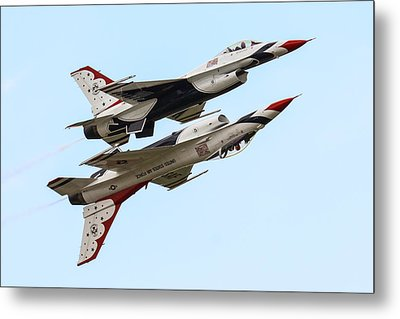 Usaf Thunderbirds Display Pair Metal Print