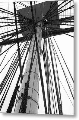 Uss Constitution Mast Metal Print by David Yunker