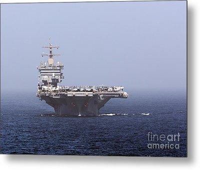 Uss Enterprise In The Arabian Sea Metal Print by Gert Kromhout