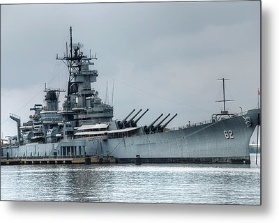 Uss New Jersey Metal Print by Jennifer Ancker