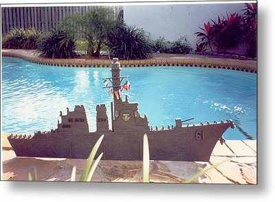 Uss Ramage Metal Print by Val Oconnor