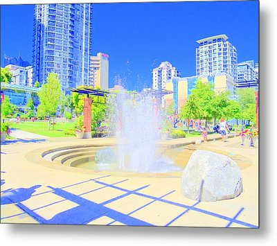 Utopian City Metal Print by Randall Weidner