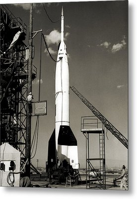 V-2 Bumper Rocket Launch In Usa Metal Print by Detlev Van Ravenswaay