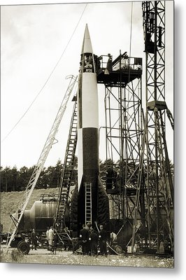 V-2 Prototype Rocket Prior To Launch Metal Print