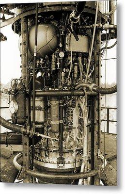 V-2 Rocket Engine Metal Print by Detlev Van Ravenswaay