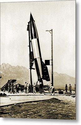 V-2 Rocket Prior To First Us Launch Metal Print