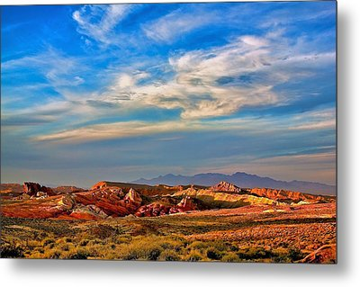 Metal Print featuring the photograph Valley Of Fire Sunset by Joe Urbz