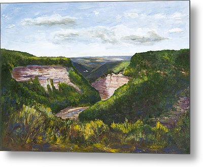 Metal Print featuring the painting Valley Prayer by George Richardson