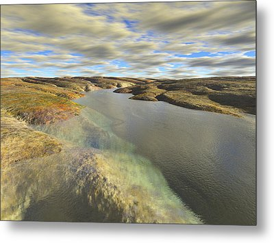 Valley Stream Metal Print by Mark Greenberg