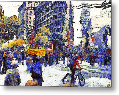 Van Gogh Occupies San Francisco . 7d9733 Metal Print by Wingsdomain Art and Photography