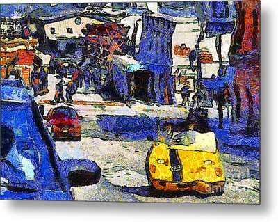 Van Gogh Tours The Streets Of San Francisco 7d14100 Metal Print by Wingsdomain Art and Photography