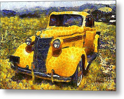 Van Gogh.s Old Ride 7d15315 Metal Print by Wingsdomain Art and Photography