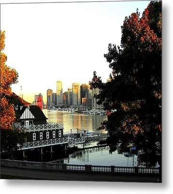 Vancouver At Sundown Metal Print by Will Borden