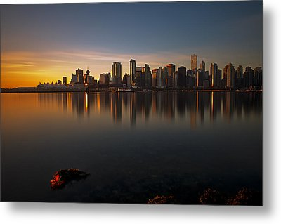 Vancouver Golden Sunrise Metal Print by Jorge Ligason