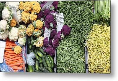 Variety Of Fresh Vegetables - 5d17900-long Metal Print by Wingsdomain Art and Photography