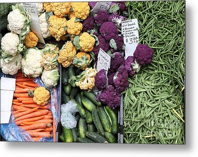 Variety Of Fresh Vegetables - 5d17900 Metal Print by Wingsdomain Art and Photography