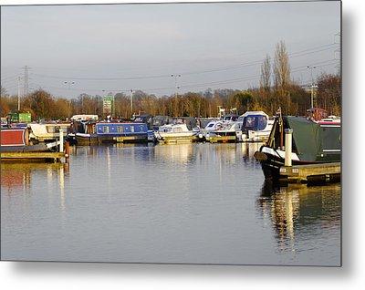 Various Boats At Barton Marina Metal Print by Rod Johnson