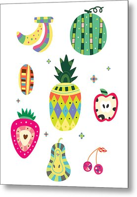 Various Kinds Of Fruit Metal Print by Eastnine Inc.