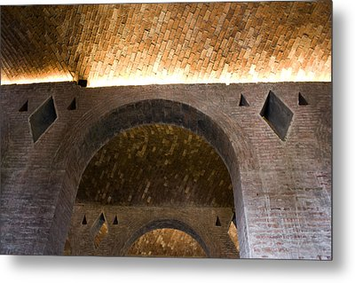 Vaulted Brick Arches Metal Print by Lynn Palmer