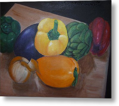 Veggies In Waiting Metal Print by Mary Dunn