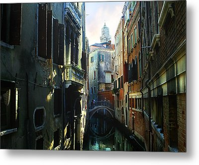Venetian Canal Metal Print by Jan Vidra