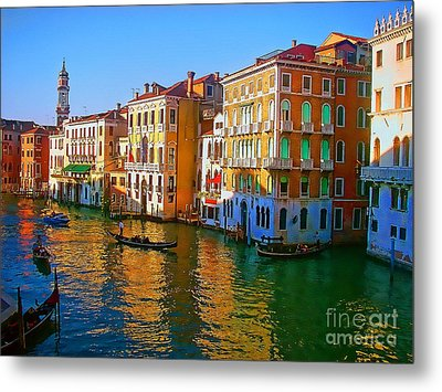 Venice - Central Canal Metal Print