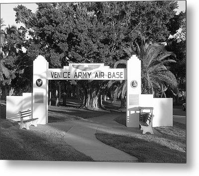Venice Army Air Base Entrance Metal Print by John Myers