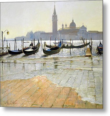Venice At Dawn Metal Print by Timothy Easton