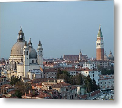 Metal Print featuring the photograph Venice At Dusk by Joseph Hendrix