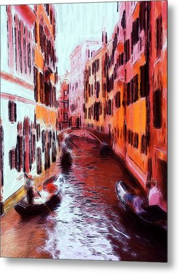 Venice By Gondola Metal Print by Steve K