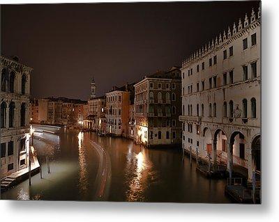 Venice By Night Metal Print by Joana Kruse