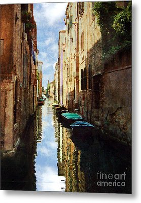 Metal Print featuring the photograph Venice Canal by Deborah Smith