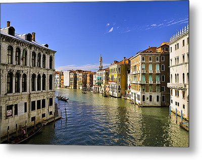Venice Canale Grande Metal Print by Travel Images Worldwide