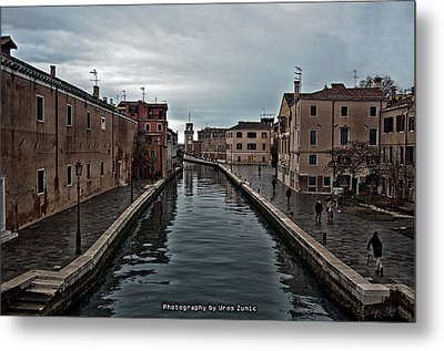 Venice Canals Metal Print by Uros Zunic
