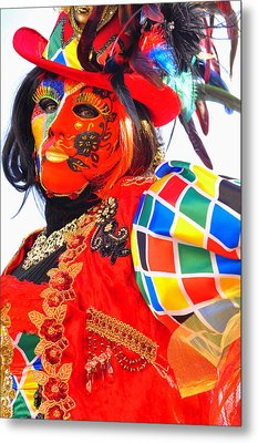 Metal Print featuring the photograph Venice Carnival by Graham Hawcroft pixsellpix