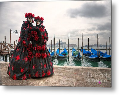Metal Print featuring the photograph Venice Carnival Mask by Luciano Mortula
