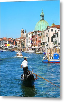 Metal Print featuring the photograph Venice Cell Phone by Jeanne  Woods