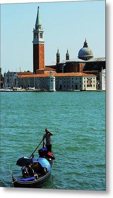 Venice Gandola Metal Print