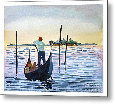 Venice Gondola Metal Print