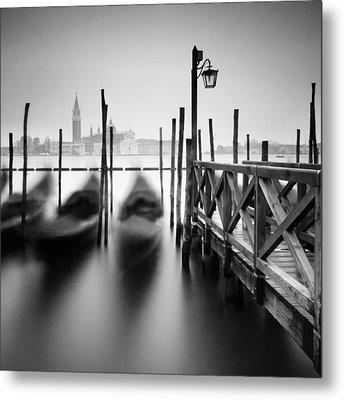 Venice Gondolas II Metal Print by Nina Papiorek