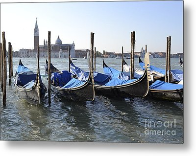 Metal Print featuring the photograph Venice Gondolas by Rebecca Margraf