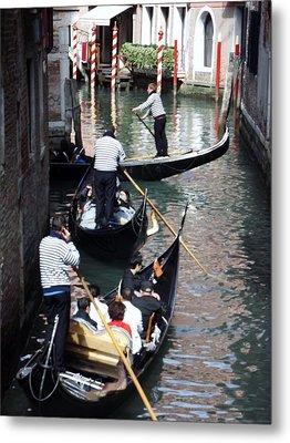 Venice Gridlock Metal Print