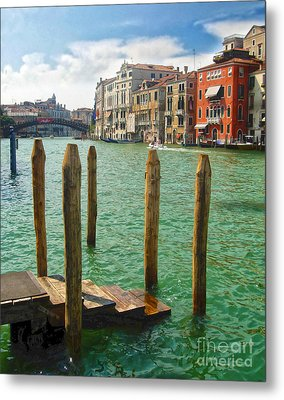 Venice Italy - Grand Canal View Metal Print by Gregory Dyer