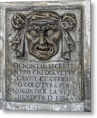 Venice Italy - Lions Mouth Metal Print by Gregory Dyer