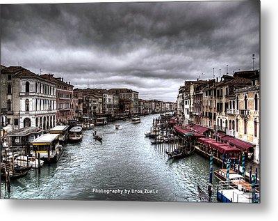 Venice Landscape Hdr Metal Print by Uros Zunic