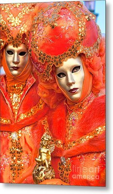 Metal Print featuring the photograph Venice Masks by Luciano Mortula