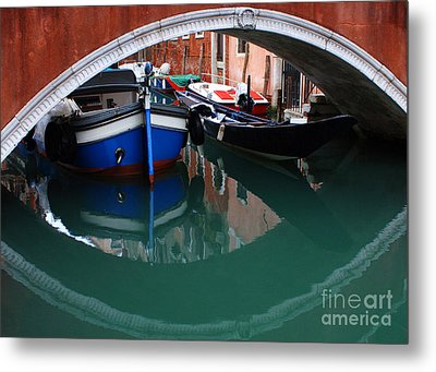 Venice Reflections 2 Metal Print by Bob Christopher