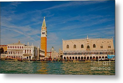 Metal Print featuring the photograph Venice's Front Door by Eric Tressler