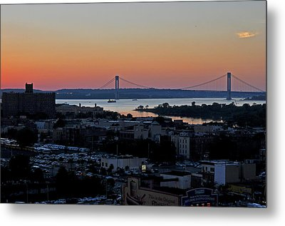 Verazano Sunset Metal Print by Diane Lent