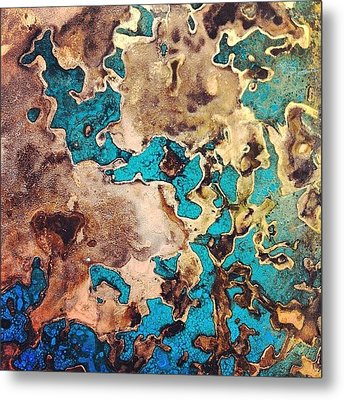 Verdigris Texture Metal Print by Nic Squirrell